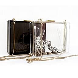 HQdeal Luxury Acrylic Fashionable Evening Clutches Shoulder Bags Handbag for Women Ladies Gift Ideal