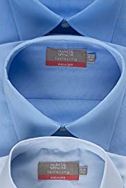3 Pack Easycare Plain Shirts