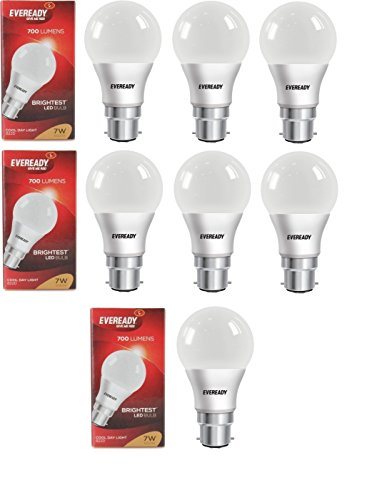 7W Cool Day Light 700 Lumens LED Bulb (Pack of 7)