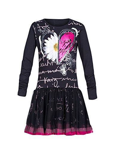 Desigual - VEST_ABUYA, Vestito per bambine e ragazze, nero (schwarz  (negro 2000)), 4 anni (104 cm)