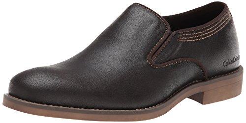 Calvin Klein Jeans Men'S Odell Leather Chelsea Boot,Dark Brown,9 M Us