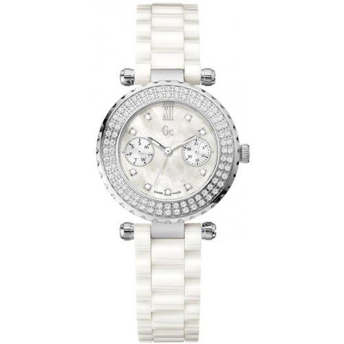 Reloj Guess Collection Gc Diver Chic 97 Diamon A28101l1 Mujer Nácar