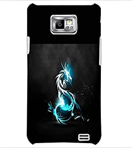 PrintDhaba Dragon D-1965 Back Case Cover for SAMSUNG GALAXY S2 (Multi-Coloured)