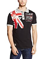 Geographical Norway Polo Kiltss (Negro / Rojo / Blanco)