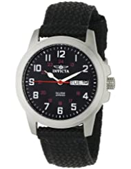 Invicta Women's 1044 Specialty Collection Black Dial Stainless Steel and Black Canvas Watch