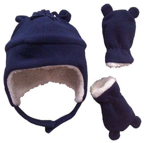 nice-caps-boys-sherpa-lined-micro-fleece-hat-and-mitten-set-with-ears-6-15-months-infant-navy