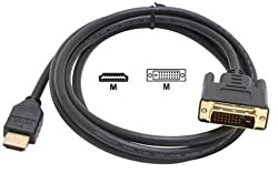 CNCT HDMI DVI CABLE 5 M (16 ft) - Lock Type 19 pin HDMI Male to 24+1 DVI-D MALE with support for 1080P - DOES NOT SUPPORT AUDIO - Displays and Peripherals from Sony - Samsung - Apple - Dell - Xbox - PS3 - PS4 - Lenovo - Pioneer - Panasonic - Sanyo - LG - Viewsonic