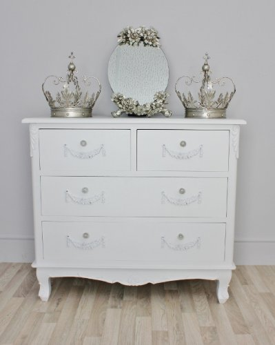 Sophie Range White Chest of Drawers - FREE DELIVERY TO UK MAINLAND ONLY