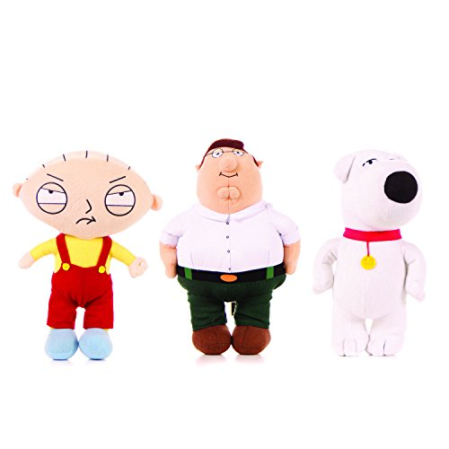 set-3-peluche-peter-stewie-brian-18cm-i-griffin-family-guy-ufficiali