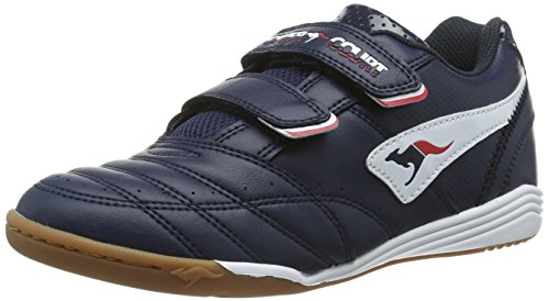 KangaROOS Power Court, Sneaker unisex bambino, Blu (Blau (dk navy/white 460)), 36 EU (3.5 Kinder UK)