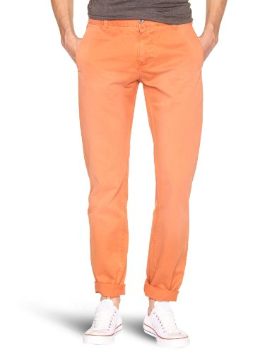 Dockers Alpha Khaki Sailmaker Wash Chino Tapered Men's Trousers Coral Wash W33INxL34IN