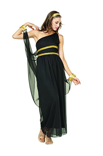 RG Costumes Women's Black Roman Toga