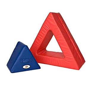 Foamnasium Triangle in Triangle, Blue/Red