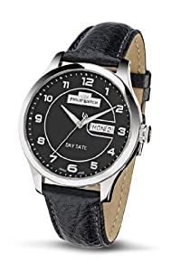 Philip Men's Liberty Analogue Watch R8251100125 with Quartz Movement, Black Dial and Stainless Steel Case