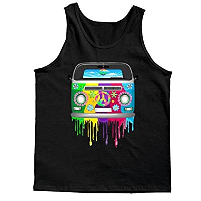 Tank Top: Hippie Van Dripping Rainbow