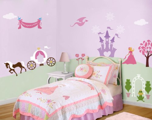 Princess Theme Wall Stencils for Girls Princess Room