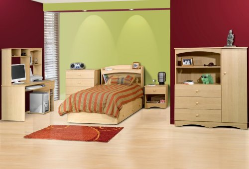 Kids Bedroom Furniture Set 1 in Natural Maple