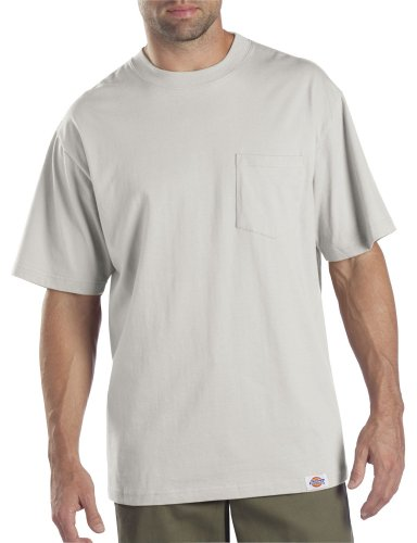 Dickies Men'S Short Sleeve Pocket T-Shirts Two-Pack, Ash Gray, 5X