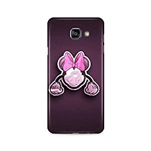 Motivatebox - Samsung Galaxy A5 2016 Back Cover - Minnie mouse purple Polycarbonate 3D Hard case protective back cover. Premium Quality designer Printed 3D Matte finish hard case back cover.
