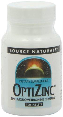 Source Naturals 30mg de zinc OptiZinc monomethionine, 120 Comprimés