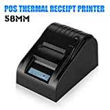 Oxford Street Hight Quality Black Receipt Printer Set USB 58mm POS Line Thermal Dot Receipt Printer +Thermal Paper Roll Supports cash drawer driving ideal for Restaurants, Department Stores, Kitchen, Convenience Stores, Specialty Retail, Super market...