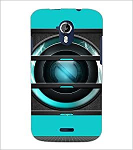 PrintDhaba Speaker D-4056 Back Case Cover for MICROMAX A116 CANVAS HD (Multi-Coloured)