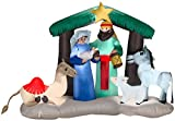 6.5' Nativity Christmas Scene Lighted Inflatable Manger Airblown