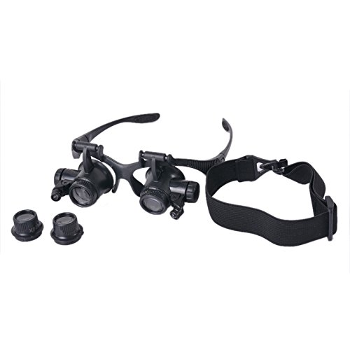 HOUSWEETY-Professional-Jewelers-Lighted-Magnifier-Visor