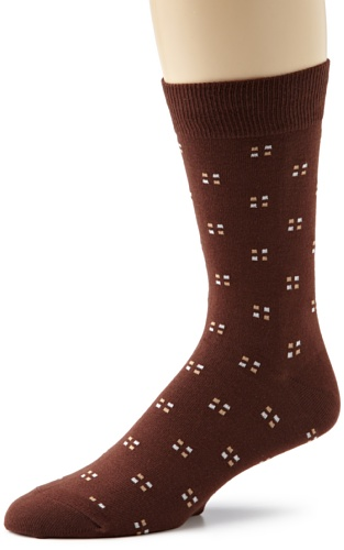 Richer Poorer Men's Pundit Cotton Socks, Brown, One Size