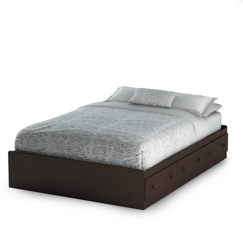 South Shore Summer Breeze Collection Full 54-Inch Mates Bed, Chocolate front-627566