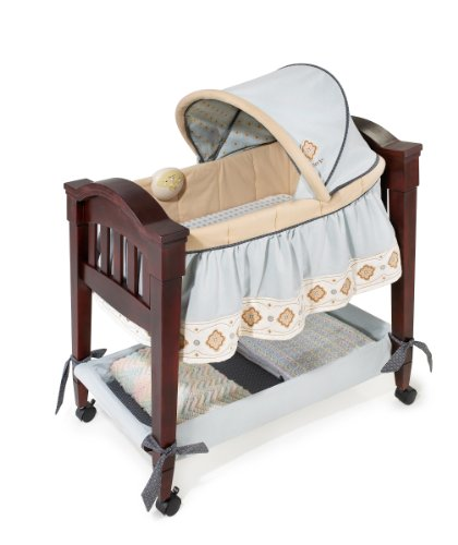 Why Should You Buy Summer Infant Carter's Classic Comfort Wood Bassinet, Tan/Blue, 0-4 Months