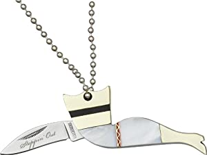 Rough Rider Knives 1220 Stepping Out Lady Neck Knife with White Pearl Handles