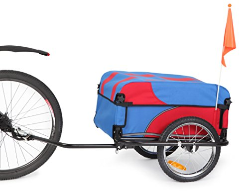 Sepnine Bicycle Bike Cargo / Luggage Trailer 20301S (Red/Blue) (Bike Trailer Folding compare prices)