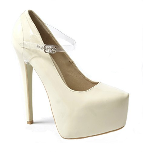 Detachable Shoe Straps - To Hold Loose Heels, Wedges, Flats (Transparent Full)