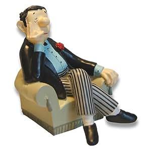 Loriot Buchstütze Solo Herr im Sessel Höhe 14 cm