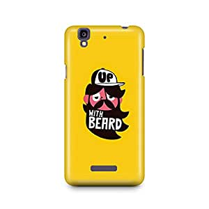 Motivatebox -Micromax Yureka Back Cover - Up with Beard Polycarbonate 3D Hard case protective back cover. Premium Quality designer Printed 3D Matte finish hard case back cover.
