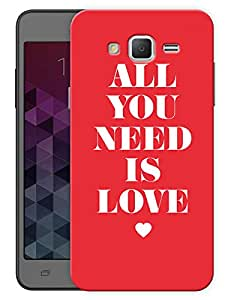"""Humor Gang All You Need Is Love Quote Printed Designer Mobile Back Cover For """"Samsung Galaxy Mega 5.8"""" (3D, Matte, Premium Quality Snap On Case)"""