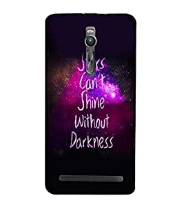 PrintVisa Quotes & Messages Stars 3D Hard Polycarbonate Designer Back Case Cover for Asus Zenfone 2