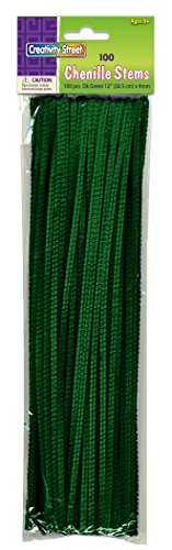 "Creativity Street Stetems/Pipe Cleaners 12"" X 4mm 100-Piece, Green"