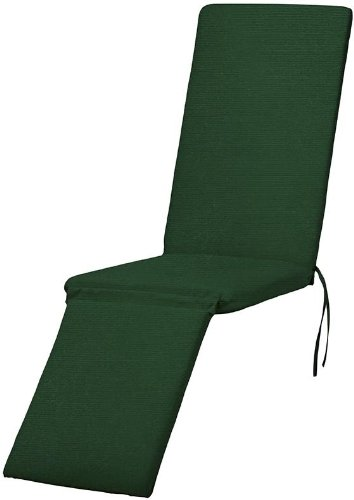 "Bullnose Steamer Chaise Outdoor Cushion, 2""Hx19""Wx74""L, Forest Green Su front-45050"