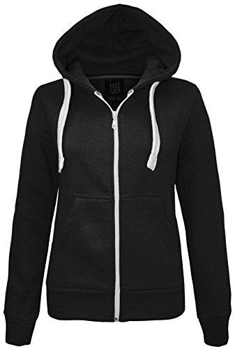 new-ladies-womens-plain-hoodie-hooded-zip-top-zipper-sweatshirt-jacket-coat-black-uk-10-aus-12-us-6