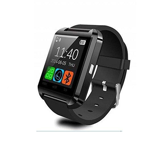 HOUZON U8 Reloj Inteligente con Bluetooth V3.0 + EDR Teléfono Compañero Pantalla Táctil Conexión Smartphone Android IOS - Negro
