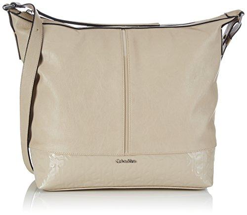 Calvin Klein Jeans MADDIE HOBO, Borsa a spalla donna, Beige (Beige (HUMUS-PT 290)), 31x35x12 cm (B x H x T)