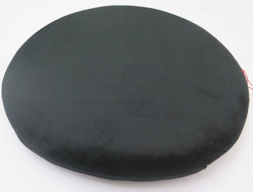 Ojia Comfortable High Quality Memory Foam Round Shape Seat Cushion/ Seat Pad / Chair Pad/ Chair Cushion/ Office Cushion/ Car Cushion/ School Cushion-16.5''*16.5''*2'' (Black)
