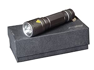 LED Lenser Police Tech Focus Torch (Titanium) - Gift Box