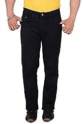 Makeover slim fit black men's jeans