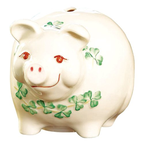 Belleek PIGGY BANK B3537 PIGGY BANK