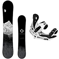 System MTN Snowboard with Summit Bindings Men's Snowboard Package by System