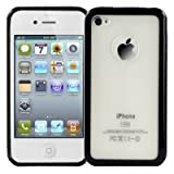 Logotrans Bumper Series Silicon Protective Case for Apple iPhone 4 Black