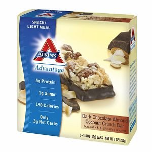 Atkins Advantage Snack Bars, 5 pk, Dark Chocolate Almond Coconut Crunch 1.4 oz pack of 3 (Atkins Advantage Snack Bars compare prices)